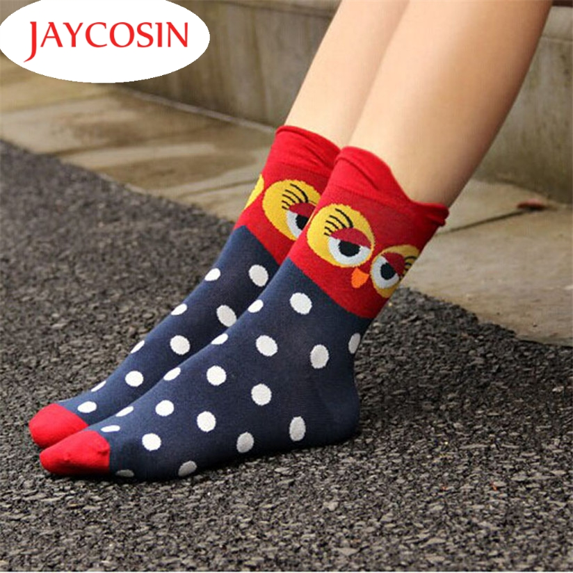 Hot Marketing New Good Quality Fashion Unique Women and Girls Cartoon Lovely Cute Owl Cotton Socks Free Shipping Wholesale