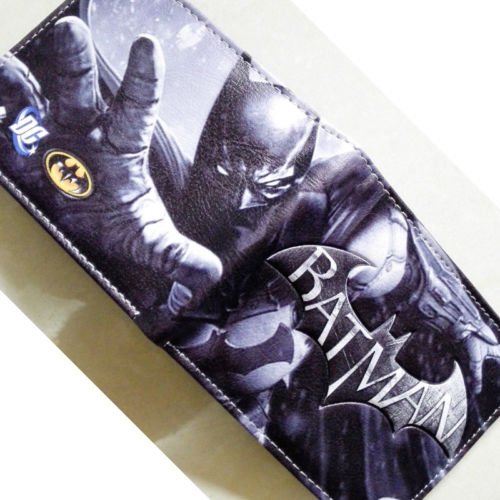 2018 DC Comics Batman Logo Bifold wallets Purse Silver 12cm Leather W341 кисть tony moly professional powder brush 1 шт page 7