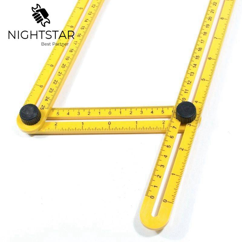 Image 3 - Multi Angle Ruler Template 4 Folding Angle Measuring Tool Instrument Brick Tile Wood Corner Products Foldable Ruler Protractor-in Gauges from Tools