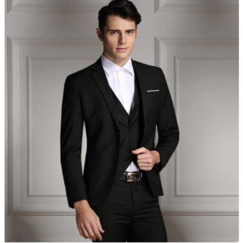 Mens Suits Wedding Groom Ivory Jacket Black Pants Men Suits Groom Tuxedos Wedding Suits For Men