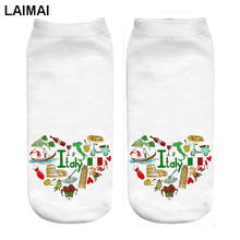 RUNNING CHICK italy love pregnant 3d print socks wholesale and dropship(China)