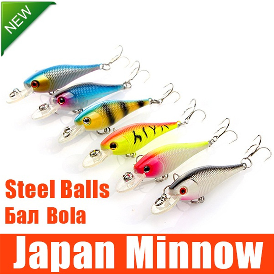 Hard fishing lure artificial minnow fishing lures set for Japanese fishing lures