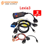 2 pçs/lote DHL New pp2000 Lexia3 Ferramenta de Diagnóstico PP2000 Lexia 3 diagbox v7.56 maker Profissional com luz LED