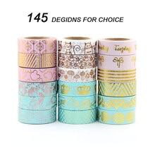 Купить с кэшбэком 30pcs/lot New 15mmx10m Japanese Washi Tape DIY Masking Tape Foil Washi Tape Set Scrapbooking Adhesive Masking Tape Stickers