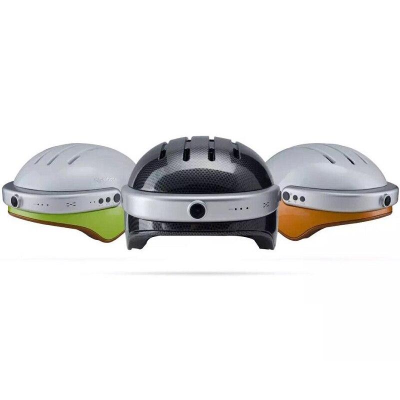 Smart Safe Casque avec 2 K HD WIFI Caméra Grand Angle 150 Degrés et IP54 étanche et Max 128 GB Mémoire & Bluetooth4.0 HD Appel Téléphonique