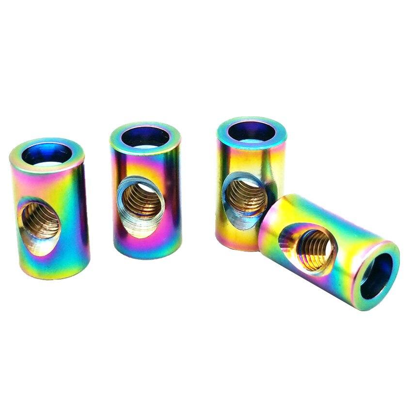 Titanium Nut Seat Tube Nut M5 M6 x13.5/15.5/18mm Steel/Gold Multicolor Color Titanium Screw Ti Fastener 4/6pcs 2 pcs ti screw nut m10 m12 m14titanium flange nut gold multiple and ti color hexagon titanium screw nuts ti fastener