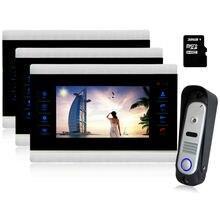 Homfong 10 inch New luxury video door bell Video Door Phone Home Security Entry Intercom System doorphone 1V3 IP65 waterproof