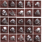 20pcs Skull Ring Pun...