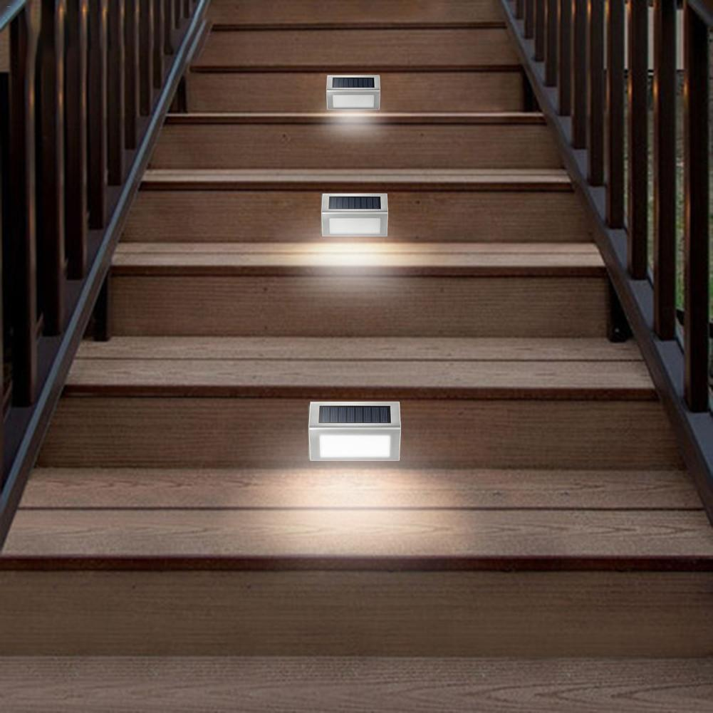 50LM Solar Path Light Garden Night Lighting Outdoor Lights 3 LED Stair Night Lights 2V IP65 Waterproof With Mounting Screws