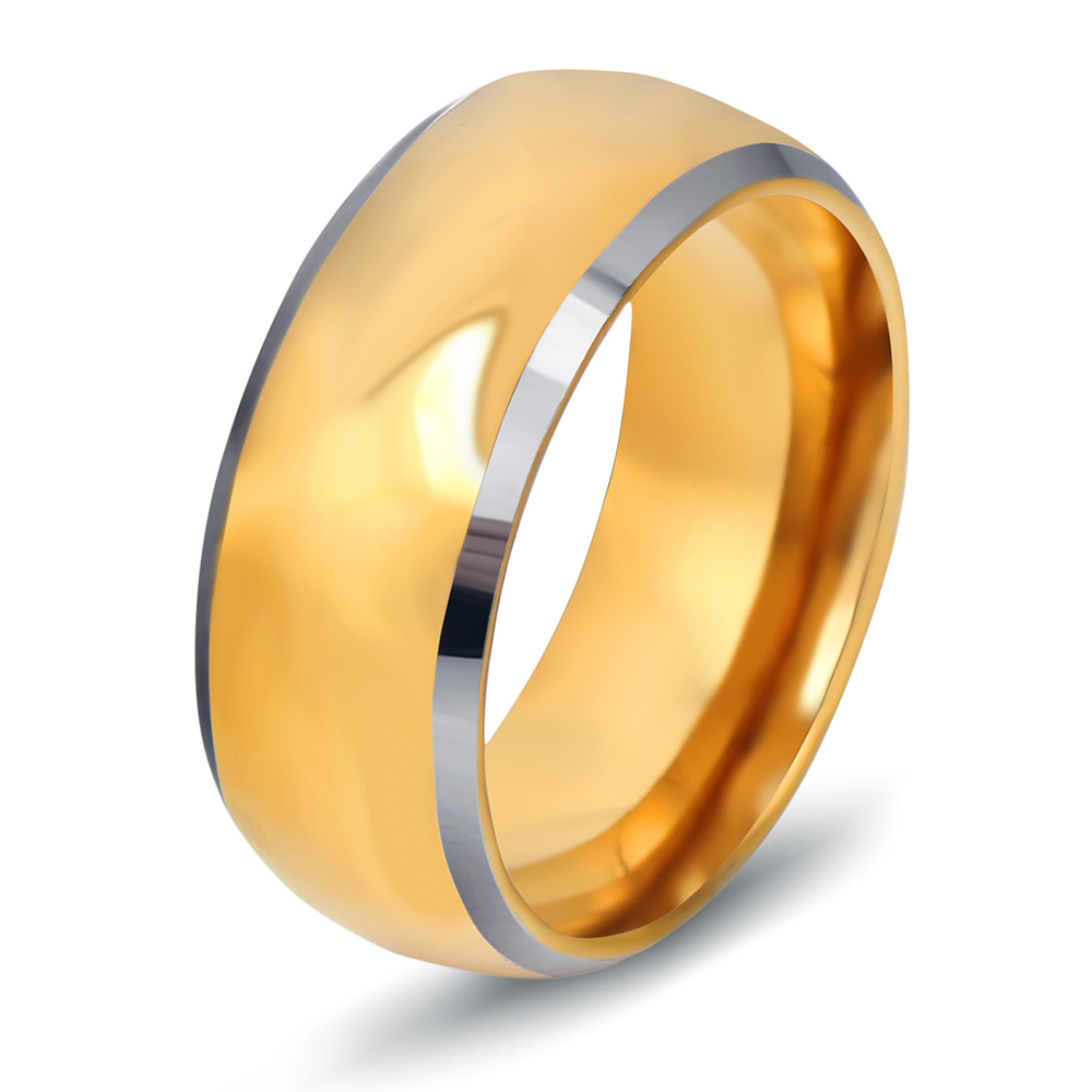 Top quality tungsten carbide rings 24k gold color engagement wedding men ring wholesale медов в цвета узоры и перспектива