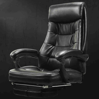 Comfortable Ergonomic Leather Executive Office Chair Lift Swivel Computer Chair Reclining Chair Footrest Lying sedie ufficio
