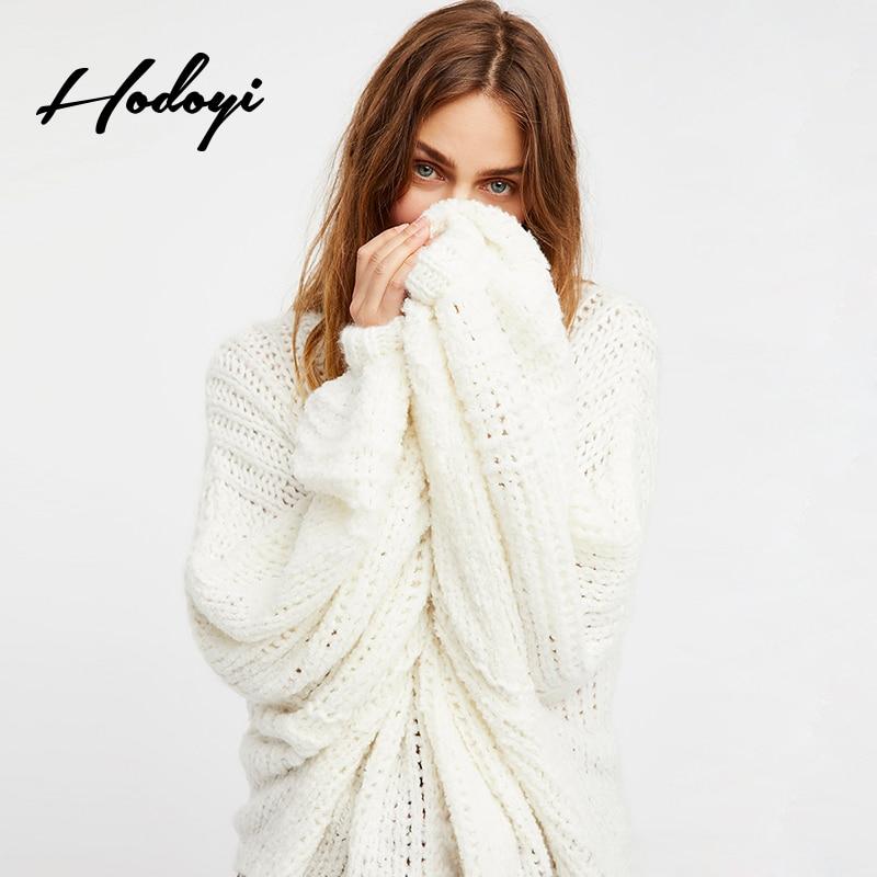 Hodoyi 2018 New Fashion Women Cardigans White Casual Lantern Sleeve Knitted Female Elegant Loose Sweaters Fashion Lady Coats