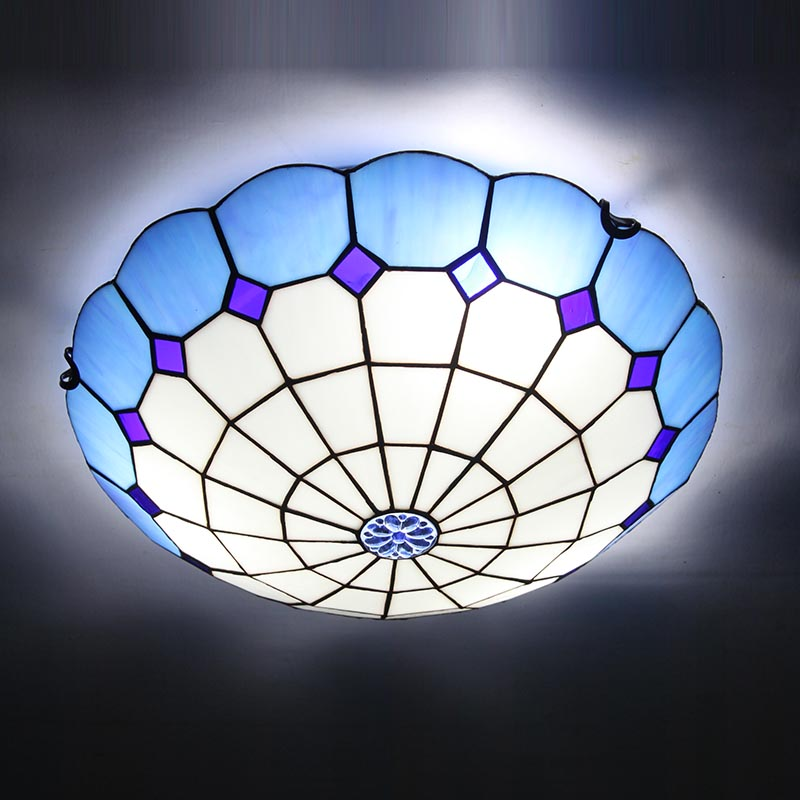Yi Xuan modern minimalist bedroom ceiling light Mediterranean fashion aisle balcony lighting LED living room lamp crystal flower pendant light modern lighting living room lamp bedroom lamp aisle lighting