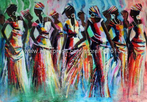 Fashion Show Ghana Painting African Fine Art By Handmade Oil Paintings  Halloween Wall Mural Patterns Decor Part 60