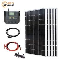 Boguang 500 Вт комплект 5*100 Вт soalr панели фотоэлектрических модулей 12 В/24 В 50A кабеля контроллера MC4 разъем для питания зарядное устройство