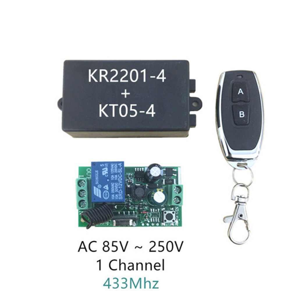 AC 220โวลต์1CH RF 433เมกะเฮิร์ตซ์ไร้สายสวิทช์ควบคุมระยะไกลการเรียนรู้รหัส1รีเลย์ควบคุมแสง