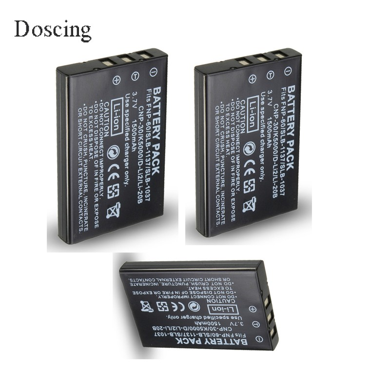 3pcs 3.7V 1500mAh NP-60 NP 60 NP60 Rechargeable Lithium Battery For FUJIFILM FUJI FinePix M603 F601 F410 F401 50i Zoom factory price np 60 np60 1pcs np 60 1200mah 3 7v li ion camera battery for fujifilm fuji finepix m603 f601 f410 f401 50i zoom