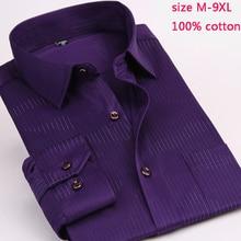 Stripe 100% cotton new arrival mens fashion male autumn super large high quality formal long sleeve shirt plus size M 7XL8XL9XL