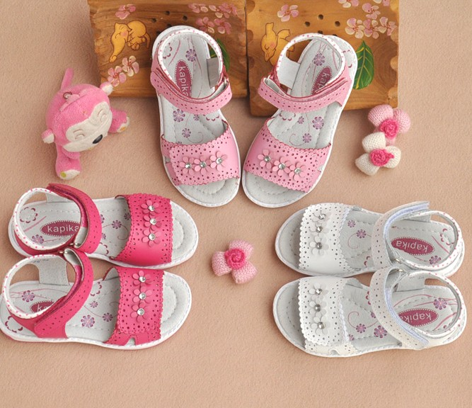 2da9a75ed NEW 1 pair Orthopedic Genuine Leather Sandals Children girl shoes