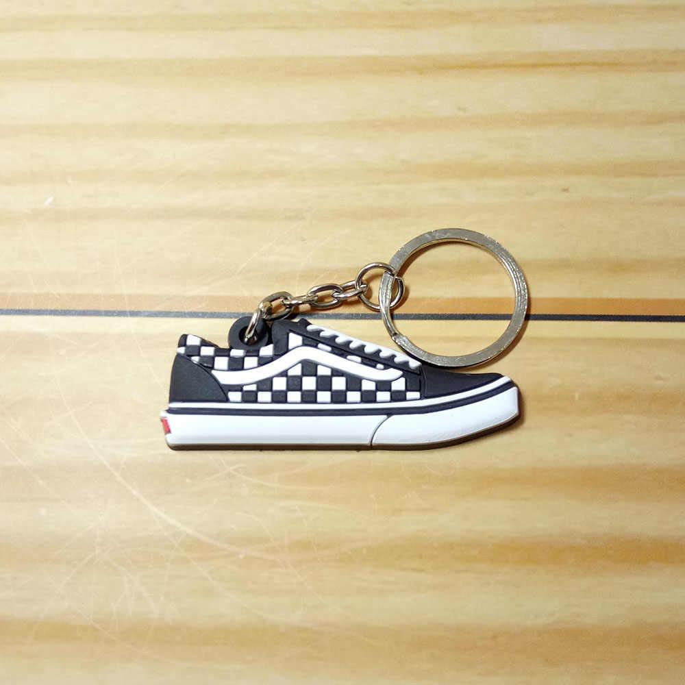 Mới Mini Silicone Jordan Giày Móc Khóa Túi Quyến Rũ Người Phụ Nữ Nam Trẻ Em Móc Khóa Quà Tặng Giày Sneaker Móc Khóa Móc Chìa Khóa