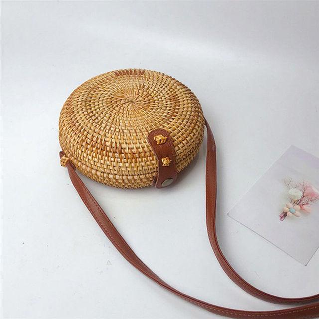 Round Retro Rattan Straw crossbody Bags for Women 2019 Messenger handbag women's bag bolsa feminina sac a main 40MA25