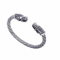 Indian Jewelry Wolf Bracelets For Women Fashion Male Accessories Viking Bracelet Men Wristband Cuff Bracelets Bangles
