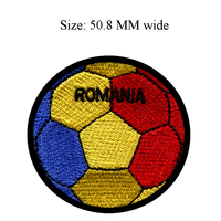 50.8MM wide Romania flag patch of soccer ball football shipping to for accessories for crafts/kids patch/clothes iron patches