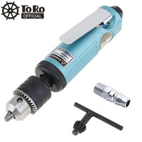 TORO 22000RPM High Speed Die Grinder Straight Pneumatic Drill Machine with 1.5 10mm Chuck for Drilling/Grinding