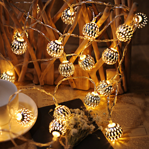 Image 5 - 10M Ball LED Christmas Garland Lights String Bedroom Fairy Lights Decoration For Wedding Home Holiday Lighting Party Light Chain