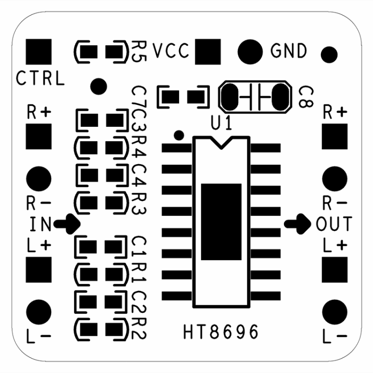 Differential Amplifier Board 2x10W Digital Class D Audio