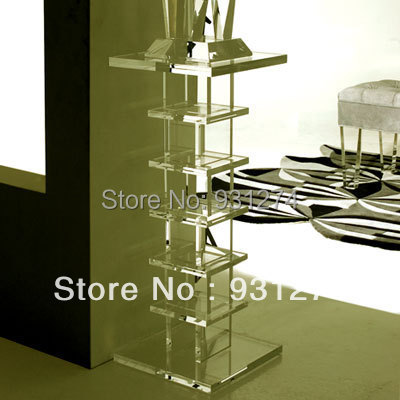 Elegant Modern Acrylic  Pedestal/Acrylic Side End Table/Plexiglass Lucite Table Stand, Riser/Acrylic Furniture hot sale c shaped waterfall acrylic occasional side table