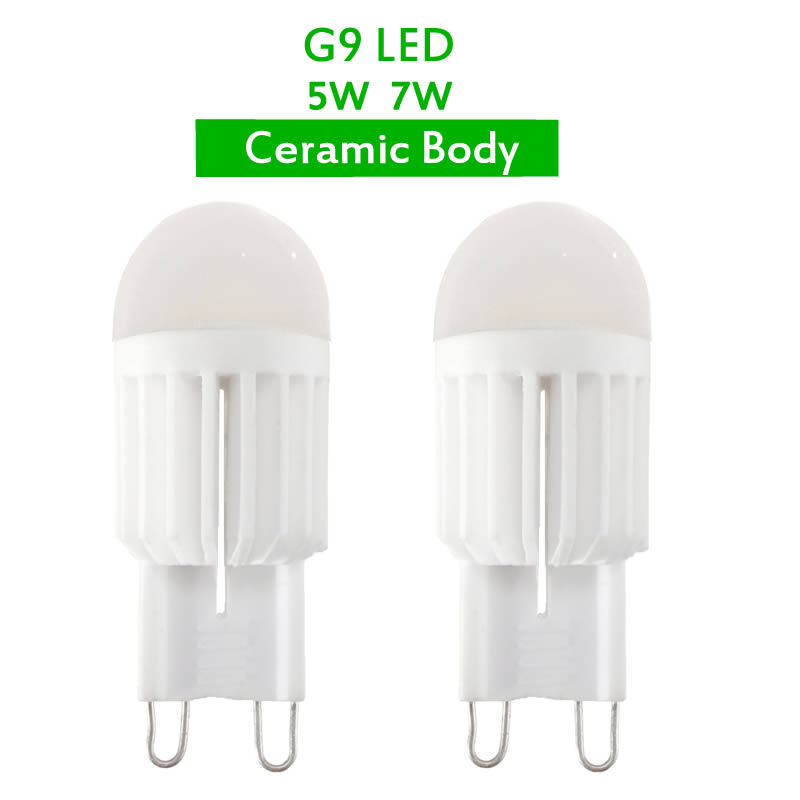 G9 LED Lamp 3W 5W 7W Mini LED Bulbs Ceramic AC 220V 230V COB Spotlight For Crystal Chandelier Replace 35W 50W