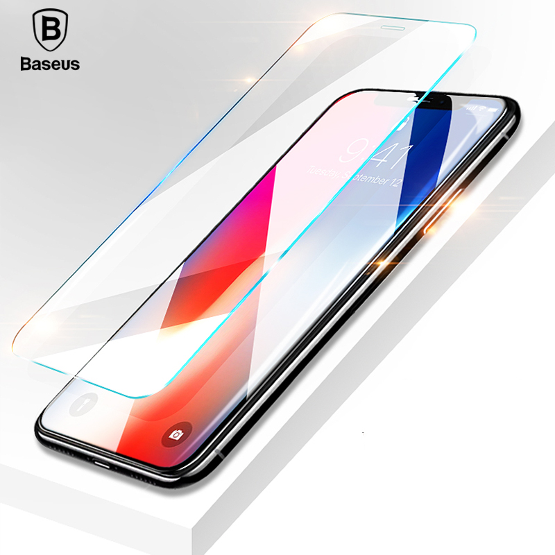 Baseus 0.15mm Transparent Tempered Glass for iPhone X 10 Screen Protector 9H Toughened Protective Glass Front Flim For iPhone 10