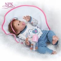 NPK самая популярная новый дизайн 22 дюйма 50 см полный виниловые куклы девушки коренится мохер real soft touch подарок для детей на день рождения