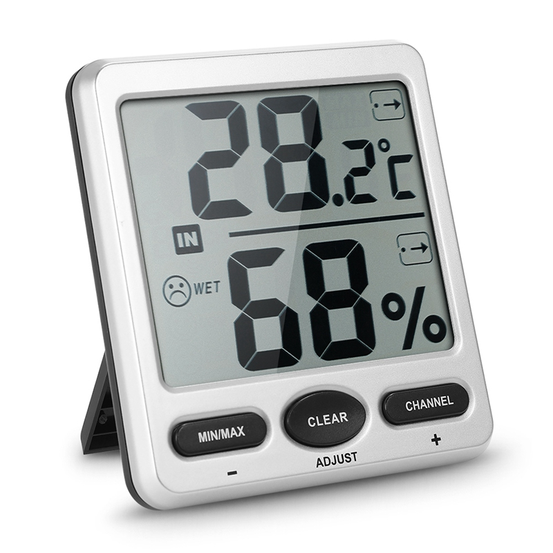 Ts-Ws-07-C3 Lcd thermomètre numérique hygromètre maison température mètre extérieur sans fil Station météo 8 canaux humidité Temp