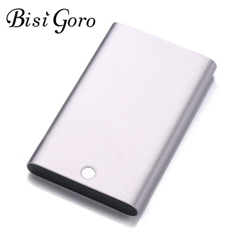 Bisi Goro  2019 Blocking Wallet New RFID Card Holder Metal Silver Gray Card Holder Creative Aluminum Alloy Women Short Wallet