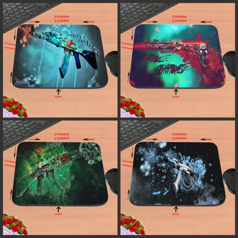 Mairuige Hot Sell Print Design Anti-slip New Arrival CS GO Games Customized Rectangular Mouse Pad Computer PC Nice Gaming