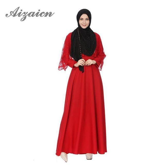 2018 Muslim Dress Robe Longue Femme Arabe Lace Open Women Abaya Kimono  Moroccan Kaftan Elbise Caftan 5dee252d4a9e