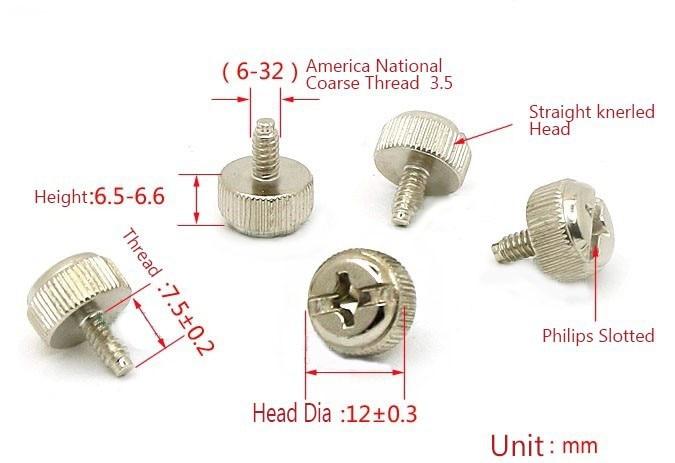 6-32 x 7//16 Knurled Thumb Screws//Stainless Steel Carton: 100 pcs
