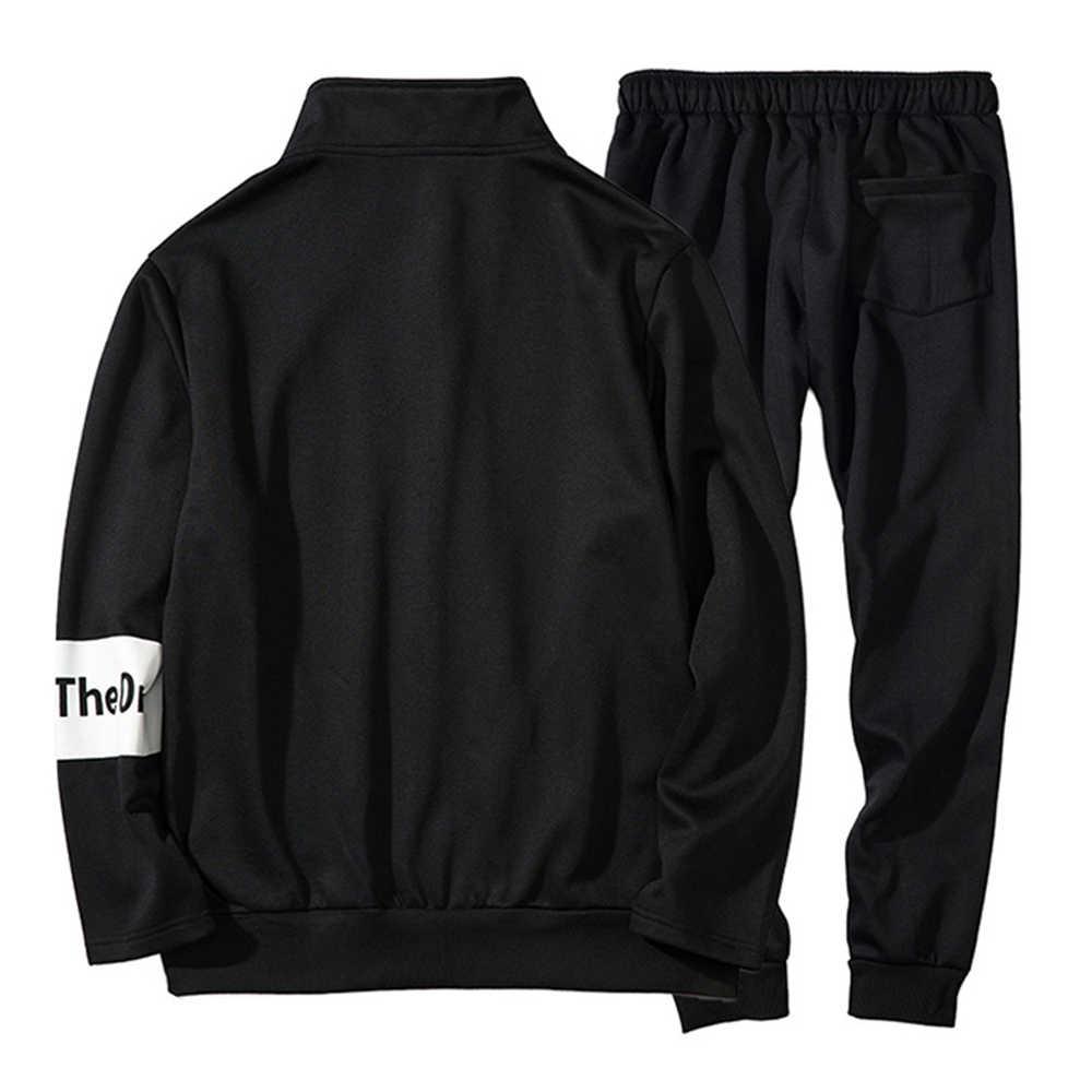 Pui men tiua, мужские спортивные костюмы, трендовый свитшот + спортивные штаны, комплект, осенне-Весенняя спортивная одежда, толстовка с капюшоном и штаны, комплекты, европейские размеры