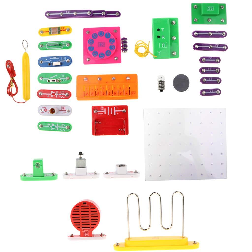 40 pièces bricolage Électrique Circuit kit de maquette D'exploration Physique Expérience L'apprentissage des Sciences jouets éducatifs cadeaux pour les Enfants Enfants