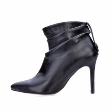 2019 New Fashion Winter pointed toe Sexy thin high heels ladies mujer short boots woman ankle boots sexy shoes for women недорого