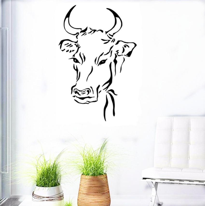 Buy 2016 New Design Cow Head Wall Sticker
