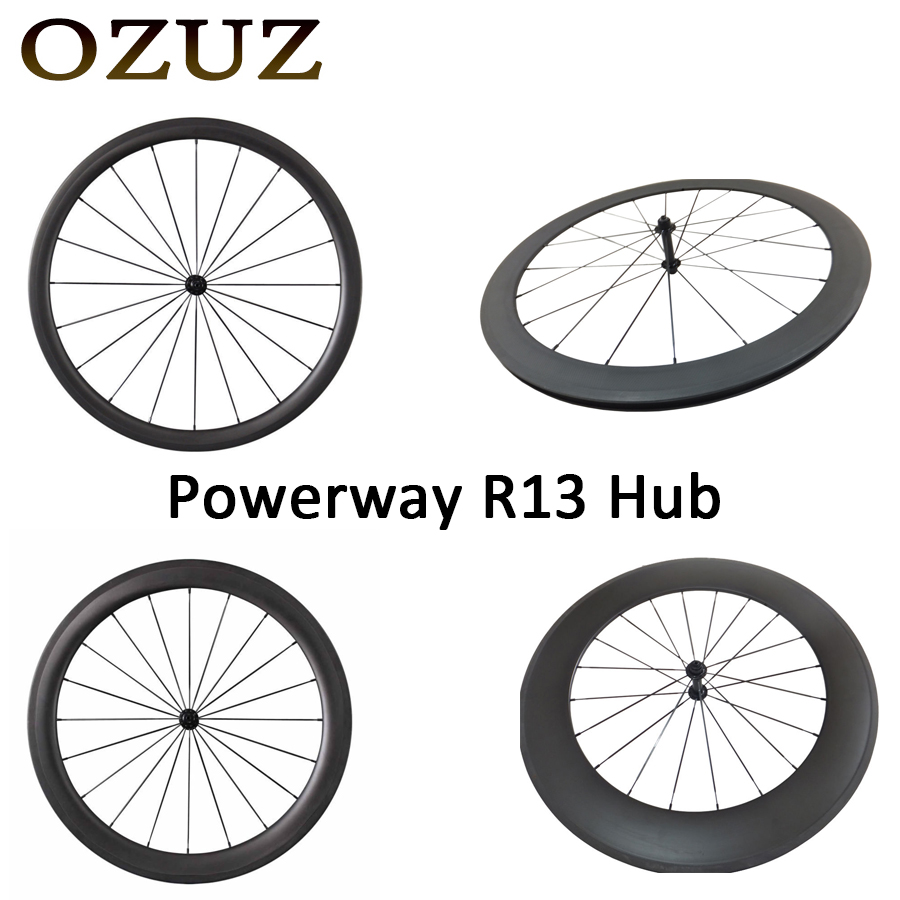 R13 494 Cnspoke OZUZ 700C 24mm 38mm 50mm 60mm 88mm Clincher Tubular Road Bike Bicycle Carbon Wheels Racing Only Front Wheel free tax carbon bike front 60mm rear 88mm tubular racing wheels road cycling super light bicycle wheel set