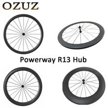 R13 494 Cnspoke OZUZ 700C 24mm 38mm 50mm 60mm 88mm Clincher Tubular Carretera Bicicleta de Ruedas de Carreras de Carbono Frente Solamente rueda