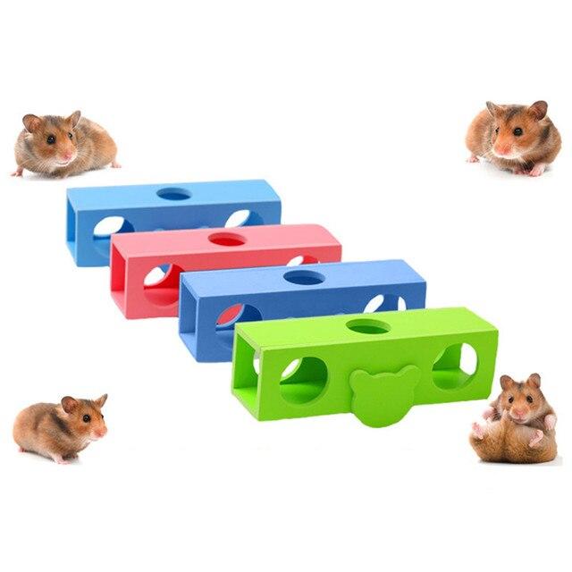 Цвет Случайным!!! 16.5X5 СМ Pet Забавный Скрежетание зубами Жевать Качели Весело Играть Игрушки для Домашних Животных Крыса Хомяк Жевать Игрушка