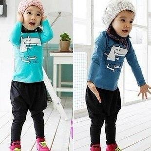 2012 New children's cartoon dog clothing sets,5 sets/lot,2 colors children's clothing sets, Quality kids track suit,Tops + pants