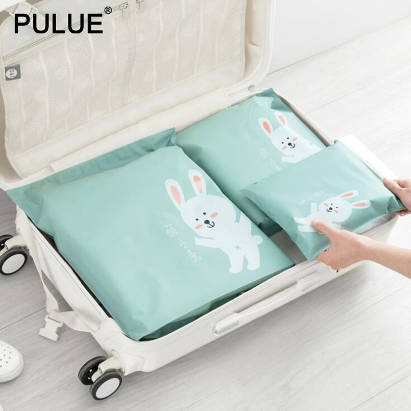 3Pcs/Set Waterproof Travel Luggage Packing Organizer Portable Storage Pouch Cosmetic Toiletries Clothing Underwear Shoes Bags