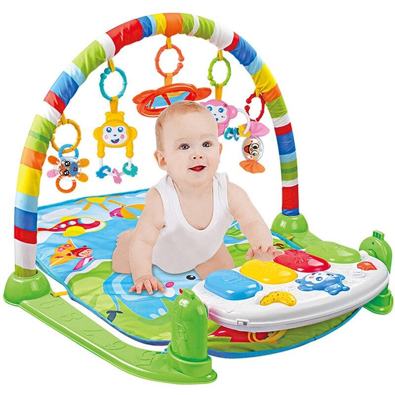 Bébé Piano musique Gym tapis jouets activité infantile enfants jouets sport Playmat jouets éducatifs Rack Gym doux bébé jouer tapis 0-36months