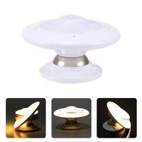 AIMIHUO LED body sensor night lamp UFO 360 Degree Rotating Step Wall Lamp 30LED warm white/white light Motion Sensor Night light